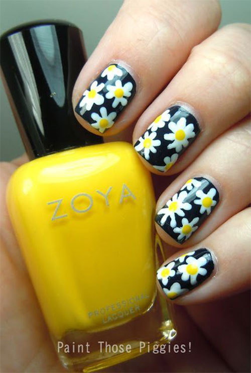 15 Spring Flower Nail Art Designs Ideas Trends Stickers 2015 9 15+ Spring Flower Nail Art Designs, Ideas, Trends & Stickers 2015