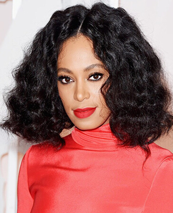 Solange Knowles' centre-parted waves