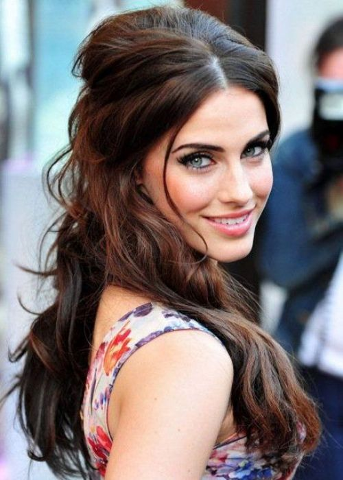 Best half up half down hairstyle_26