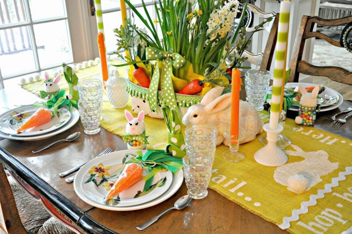 Bright Green Table Decoration