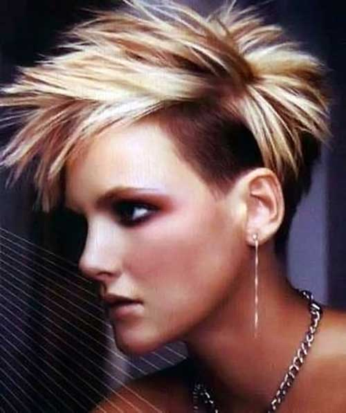 Cool Undercut Spiky Pixie