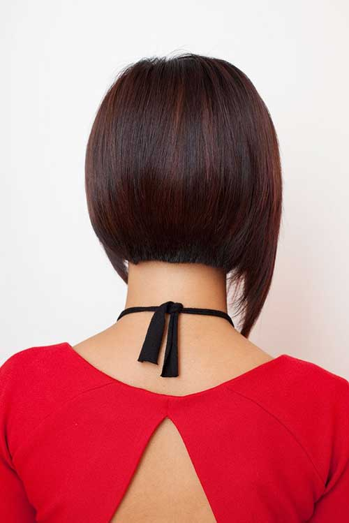 Chinese Straight Bob Back View