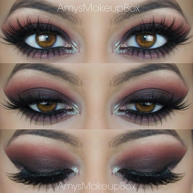 Dark Smokey Eye with Pinks and Purples