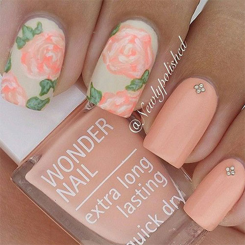 15 Spring Flower Nail Art Designs Ideas Trends Stickers 2015 4 15+ Spring Flower Nail Art Designs, Ideas, Trends & Stickers 2015
