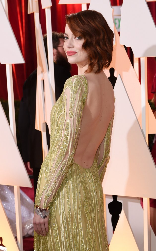 emma stone outfit Best Dressed Celebs at the Oscars (2015)