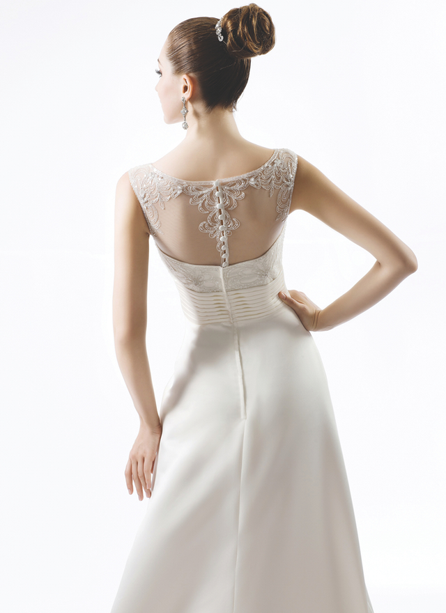 Illusion back wedding dress from Venus Bridals