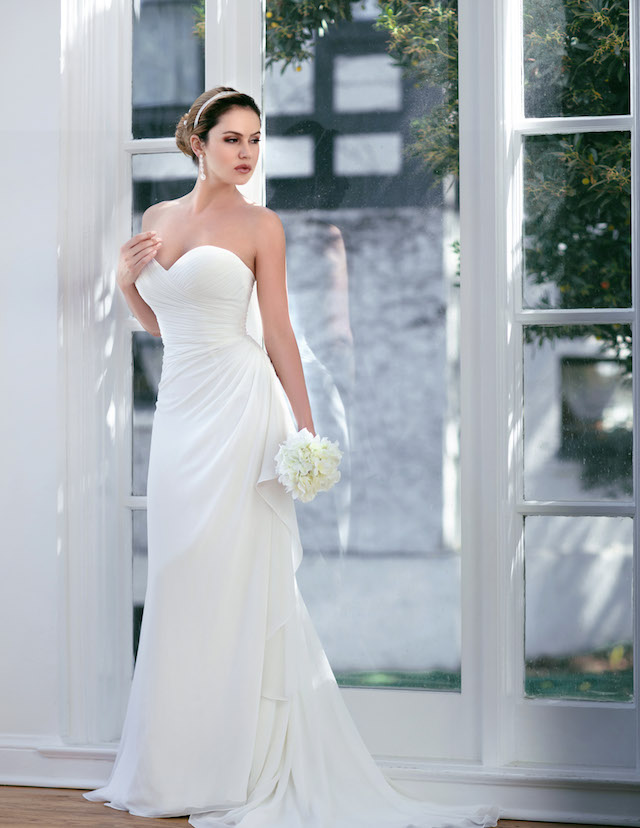 Side bustle wedding dress from Venus Bridals