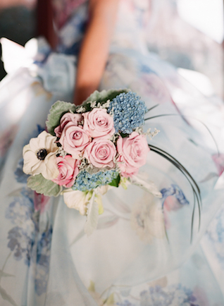 Pink rose bridal bouquet | Rochelle Cheever Photography | see more on: http://burnettsboards.com/2015/03/floral-inspired-roman-villa-wedding/