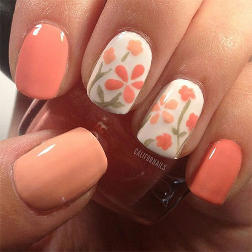 15 Spring Flower Nail Art Designs Ideas Trends Stickers 2015 11 15+ Spring Flower Nail Art Designs, Ideas, Trends & Stickers 2015