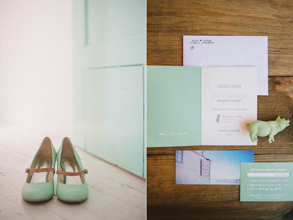 mint wedding details - photo by Piteira Photography http://ruffledblog.com/whimsical-destination-wedding-in-lisbon
