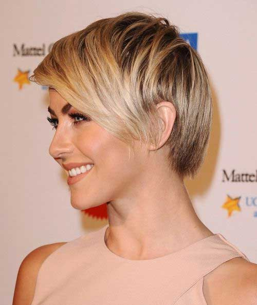 Julianne Hough Straight Pixie Hairstyles