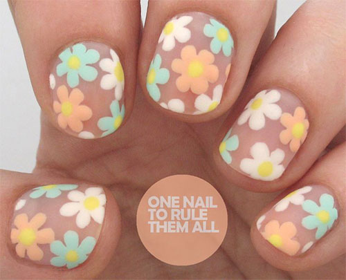 15 Spring Flower Nail Art Designs Ideas Trends Stickers 2015 10 15+ Spring Flower Nail Art Designs, Ideas, Trends & Stickers 2015