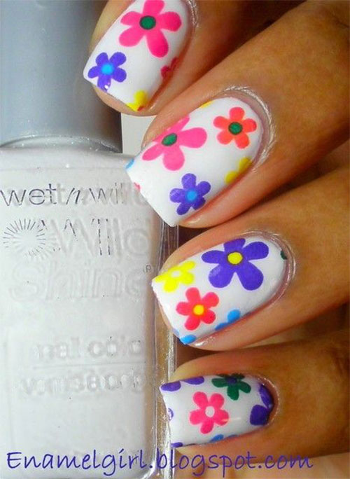 15 Spring Flower Nail Art Designs Ideas Trends Stickers 2015 7 15+ Spring Flower Nail Art Designs, Ideas, Trends & Stickers 2015