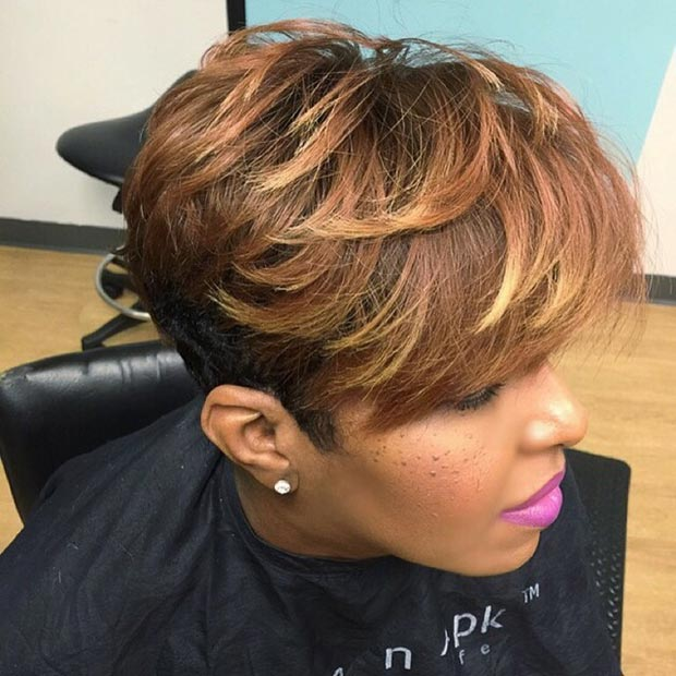 Short Blowout Hairstyle in Light Brown