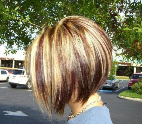 Asymmetrical Short Bob Haircuts 2015 with Two Tone