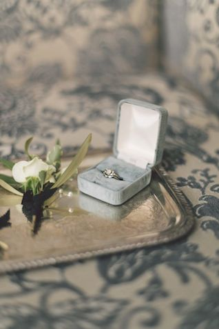 Vintage engagement ring | The Love Studio | see more on: http://burnettsboards.com/2015/03/vintage-dior-wedding-editorial/