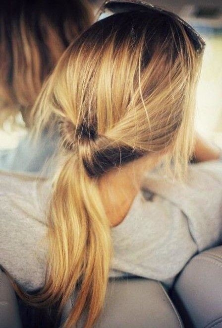 Cute Ponytail Hairstyle for Thin Hair