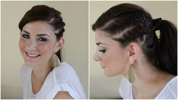 double french braid cute ponytail