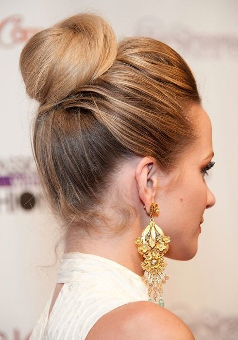 Cute Bun Hairstyles 2014 Twisted Updo Hairstyle1