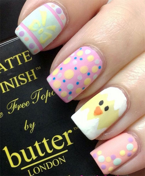 Cute Easter Gel Nail Art Designs Ideas Trends Stickers 2015 5 Cute Easter Gel Nail Art Designs, Ideas, Trends & Stickers 2015