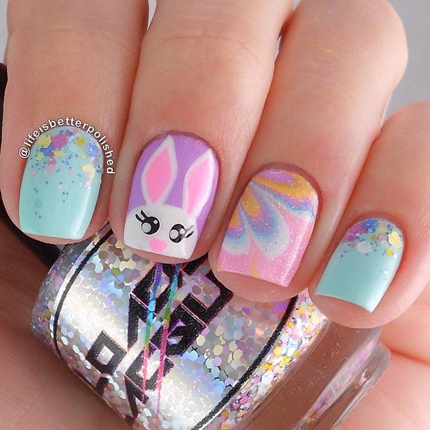 Easter Nail Design for Short Nails