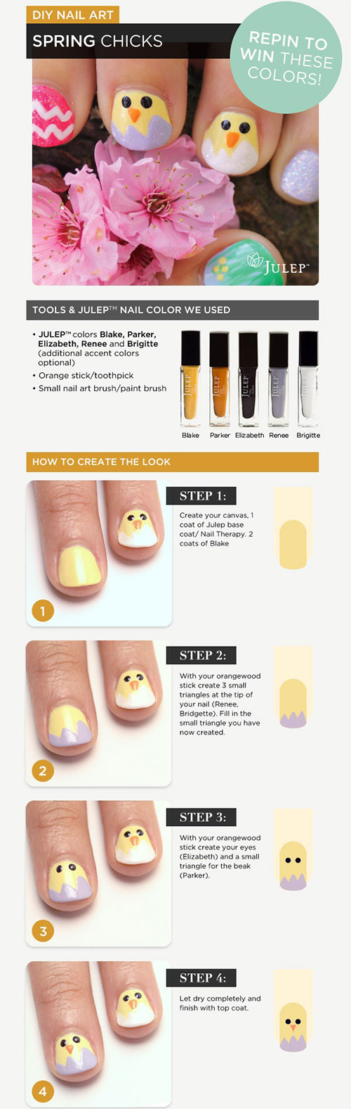 10 Step By Step Easter Nail Art Tutorials For Beginners Learners 2015 8 10 Step By Step Easter Nail Art Tutorials For Beginners & Learners 2015