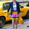 fun colorful stripe skirt