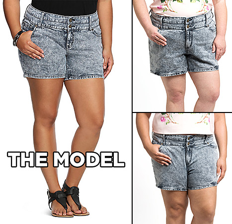 The BuzzFeed team rocked a pair of denim shorts from Torrid that didn't fit so well.