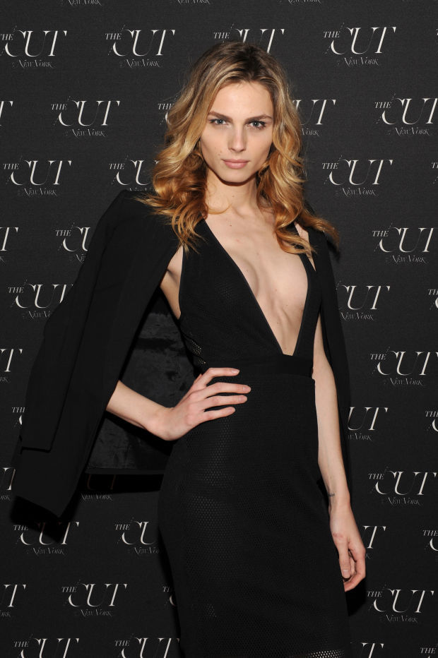 Andreja Pejic at a New York Fashion Week party in 2015.