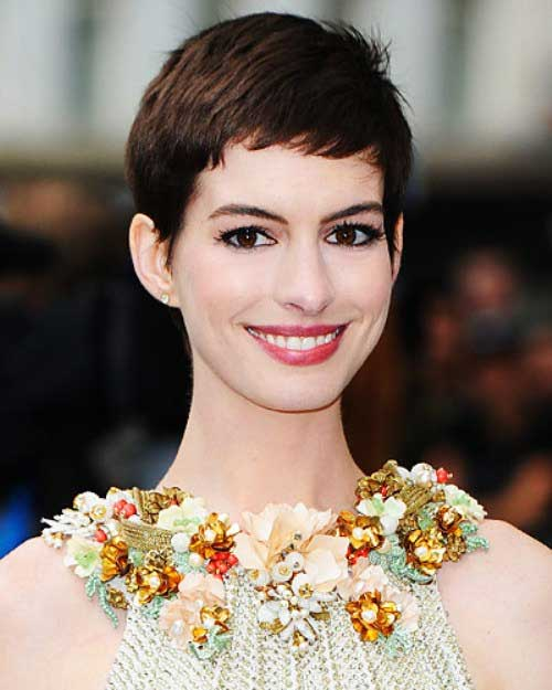 Anne Hathaway Pixie Short Haircuts