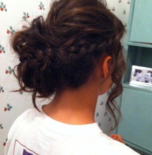 Messy Braided Updo for Prom Hairstyles