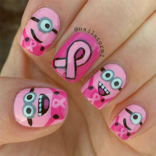 Cute Pink Minion Nail Art Designs Ideas Trends Stickers 2015 3 Cute Pink Minion Nail Art Designs, Ideas, Trends & Stickers 2015