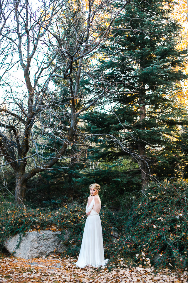 Wedding dress from Gossamer | Mary Claire Photography | see more on: http://burnettsboards.com/2015/04/dreaming-calligraphy-wedding-editorial/