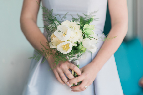 petite bridesmaid bouquet - photo by For the Love of Juneau http://ruffledblog.com/party-city-wedding-in-atlanta