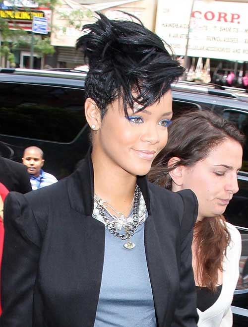 Rihanna Cool Mohawk Hairstyles for Black Women