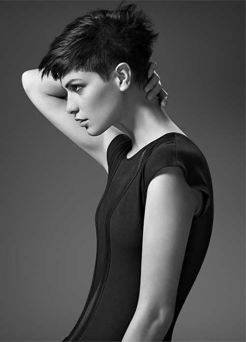 Cool Short Faded Pixie 2014
