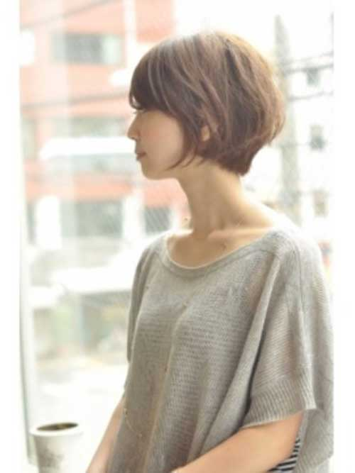 Fine Asian Bob with Short Layered Bangs