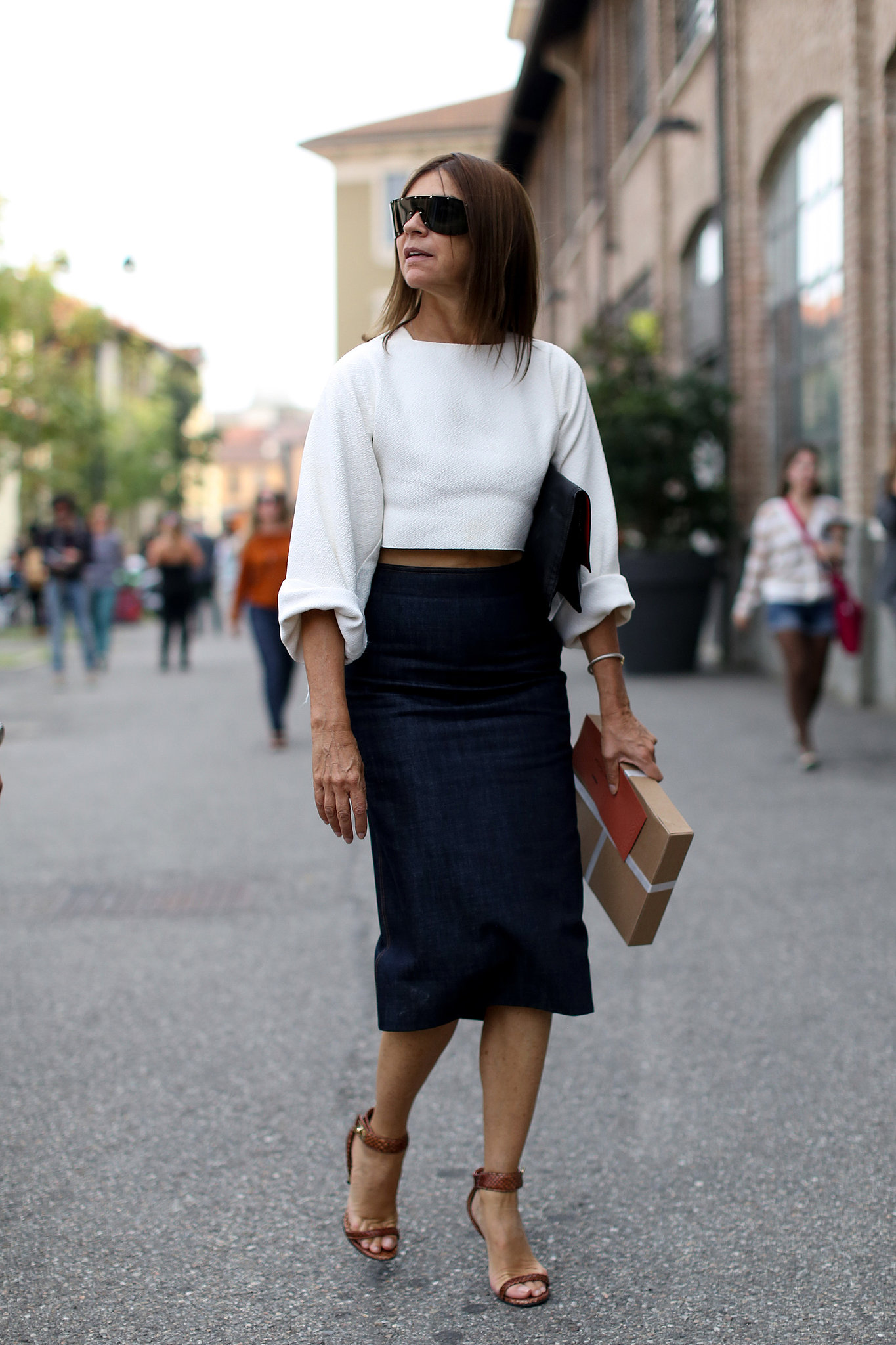 crop top and skirt office