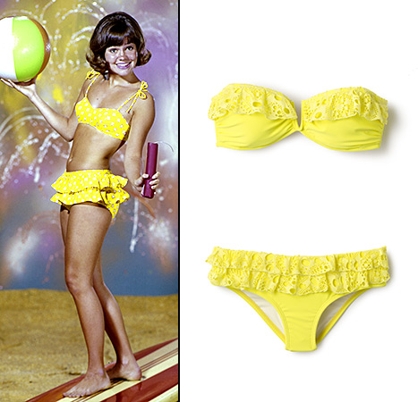 Teen queen! Sally Field brought the sunshine in her yellow bikini as Gidget.