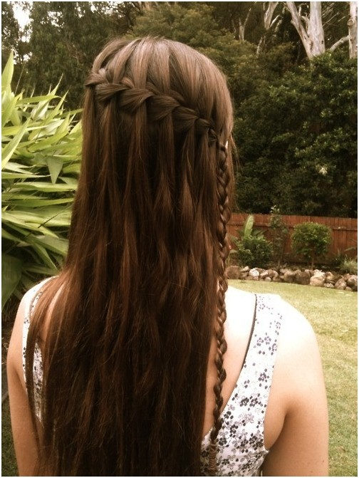 Diy Waterfall Braided Hairstyle for Girls