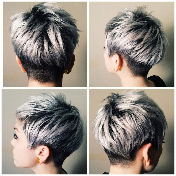 Silver Highlights for Short Black Hair