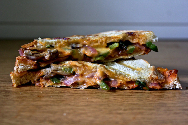 Veggie Pizza Grilled Cheese