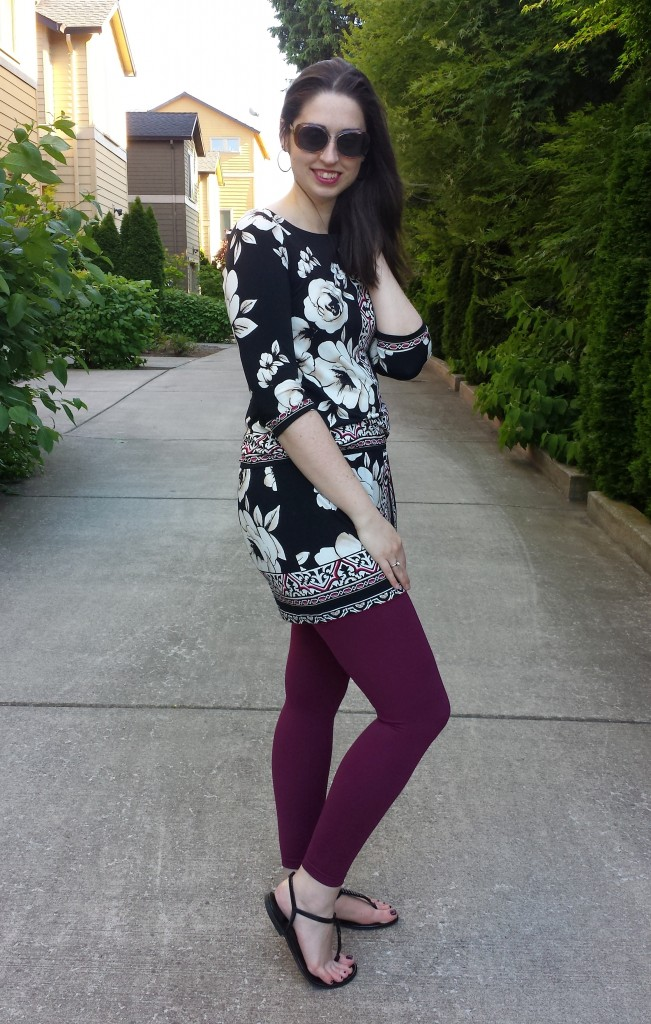 sandals tunic leggings