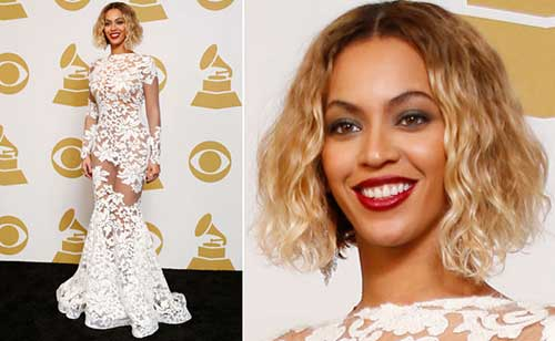 Beyonce Short Wavy Curly Hairstyles