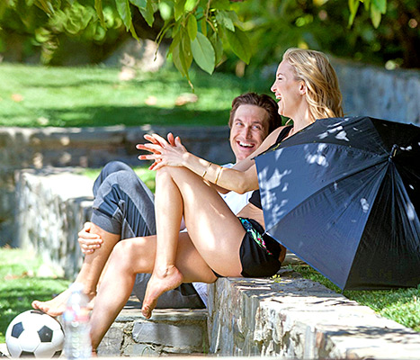 Kate Hudson with her brother, Oliver, are snapped sharing a smile on April 28 in L.A.