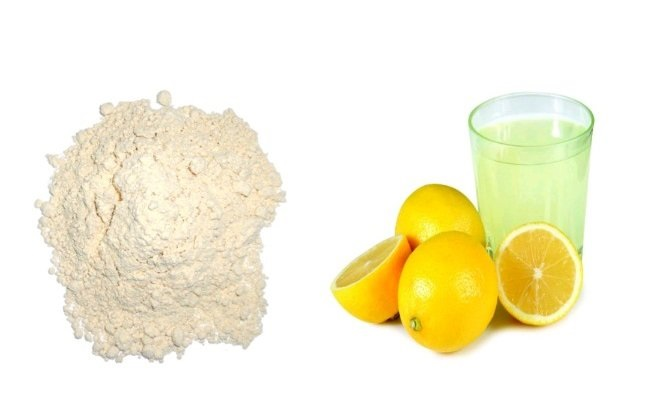 Gram Flour And Lemon Juice