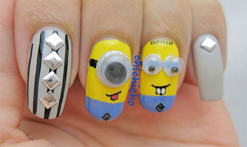 25 Awesome Minion Nail Art Designs Ideas Trends Stickers 2015 19 25+ Awesome Minion Nail Art Designs, Ideas, Trends & Stickers 2015