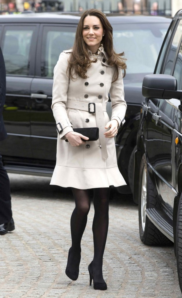 double breasted coat belted kate middleton