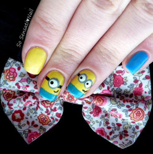 25 Awesome Minion Nail Art Designs Ideas Trends Stickers 2015 25 25+ Awesome Minion Nail Art Designs, Ideas, Trends & Stickers 2015
