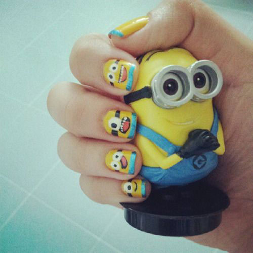 25 Awesome Minion Nail Art Designs Ideas Trends Stickers 2015 26 25+ Awesome Minion Nail Art Designs, Ideas, Trends & Stickers 2015